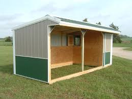 Metal Loafing Shed Kits by Horse Run In Shed With Tack And With Feed Room