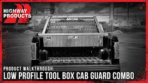 Highway Products | Low Profile Toolbox Cab Guard Combo Hdx Heavy Duty Truck Cab Protector Headache Rack Wesnautotivecom Weather Guard 19135 Ford Toyota Mounting Kit 10595201 Racks Ca 1904502 Protectors Us 1906302 1905002 Serviceutility Bodies The Dexter Company Brack 30111 Guards Cap World Inc In Trucks Accsories Landscape Truck Body South Jersey