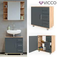 details zu vicco waschbeckenunterschrank ilias eiche anthrazit waschtisch unterschrank bad