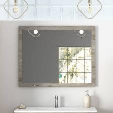 badmöbel landhaus set waschtisch mit keramikbecken landhaus spiegel tarifa 110 kiefer grau b h t ca 101 200 45cm