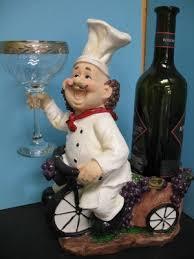 3d italian fat chef glass wine holder bistro decor home bar
