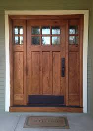I Like This Door For The Lower Entry Craftsman Style And Sidelights Built Of Rustic White Oak Features Flat Panels Upper Divided Lights