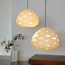 Regolit Floor Lamp Replacement Shade by Paper Pendant Lamp Shades Chestnut Origami Hanging Shade Light