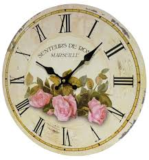 pendule murale cuisine horloge murale pendule ronde de cuisine ou salon en bois et papier