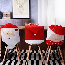 100 Amazon Red Chair Covers Com Tatuo 4 Pieces Christmas Decor Santa Claus