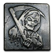 Grim Reaper Pumpkin Carving Ideas by 4 Oz Silver Yeager Poured Silver Grim Reaper Yeager Poured