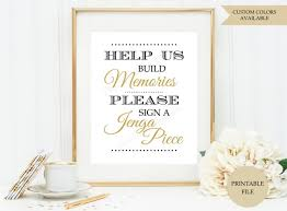 Jenga Guest Book Sign PRINTABLE FILE