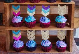 Arrow Cupcake Toppers Tribal Theme Cupcakes Wild One