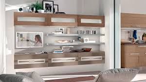 contemporary living room wall unit lacquered wood gallery