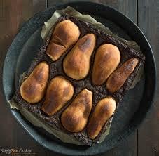 vegane birnen schoko brownies salzig süß und lecker