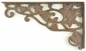 cast iron shelf brackets wall shelf brackets grape vine pattern