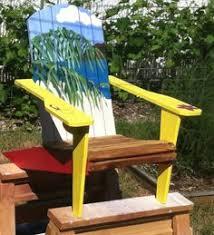 Custom Painted Margaritaville Adirondack Chairs by Margaritaville Hand Painted Adirondack Chair Cars For Sale