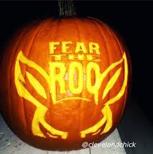 Ohio State Brutus Pumpkin Stencil by Carved University Of Akron Fear The Roo Pumpkin Check Out How To
