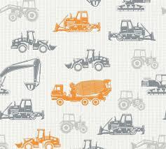 Esprit Kids Wallpaper Trucks Cars Orange Metallic 35706-3