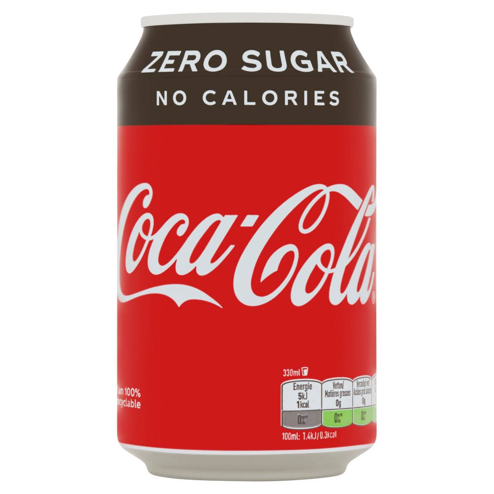 Coca-Cola Zero Soft Drink - 330ml