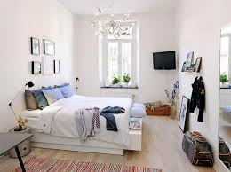 Small Apartment Bedroom Magnificent White Wall