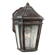 feiss londontowne 1 light weathered chestnut outdoor wall fixture
