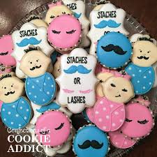 Staches And Lashes Cookies Cookie Ideas ☆ In 2019