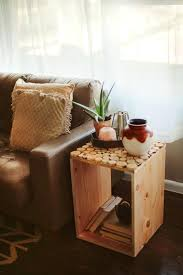 Wood Crate Decor Cute Square Ideas For With Small Circle Furniture And Rustic Decorations Coffee Table Outstanding