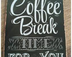 Coffee Break Time For You Retro Vintage TIN SIGN Wall Painting Metal Decor