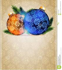 Christmas Tree Ornaments Stock Vector Illustration Of Background