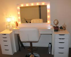 Diy Makeup Desk Ikea by Makeup Vanity Set With Lighted Mirror Gallery Also Ideas Perfect