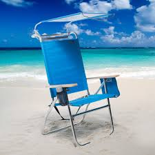 Telescope Beach Chairs With Cup Holder by Copa 4 Position Big Tycoon Canopy Beach Chair Hayneedle