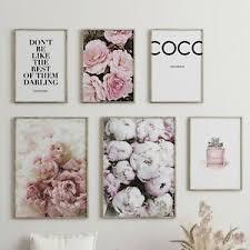 details zu heimlich premium poster set 6er coco wohnzimmer deko rosa bild din a3 din a4