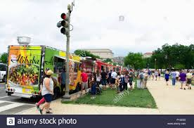 100 Food Trucks In Dc Today Feeding The Crowd On National Mall In DC Stock