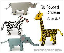 African Animals Paper Craft From Daniellesplace