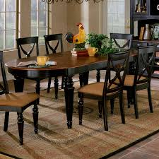 Northern Heights Wood Dining Table Chairs In Black Cherry