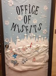 Christmas Cubicle Decorating Ideas by Christmas Door Decorated Rudolph And The Island Of Misfit Toys