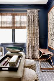 Navy Blue Living Room Curtains Dining Contemporary With High