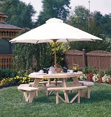 wood octagon picnic table swingsets luxcraft poly furniture