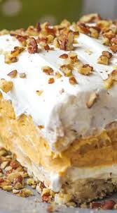 Easy Pumpkin Desserts Pinterest by Layered Pumpkin Dessert A Pecan Layer Cream Cheese Layer