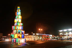 Frontgate Christmas Trees Uk by Gallery Rakvere Surprises With Christmas Tree Made Of Old Windows