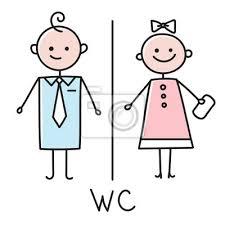 wc symbol toilette türschild symbol badezimmer teller männer bilder myloview