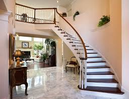 Tile Floor Wood Stairs Home Design Ideas And Pictures Foyer Flooring Entryway Marble