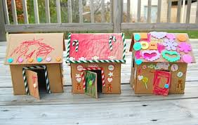 Cardboard Gingerbread House Craft