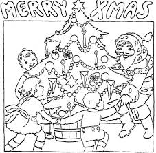 Colouring Pages For Children Christmas Coloring Page