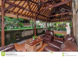 100 Bali Villa Designs Traditional And Antique Living Room Of Stock Image