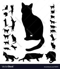 cat silhouette cat silhouette collection royalty free vector image