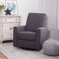 99 Get Prices Nursery Rocking Chair Shop Abbyson Hampton Grey Swivel Glider Recliner On