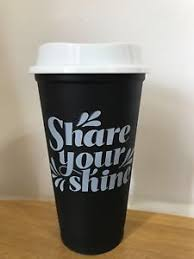 Image Is Loading Starbucks Reusable Coffee Cup Tumbler Plastic Black Limited