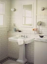 my 1950 s style bathroom white subway tile marble mosaic floor