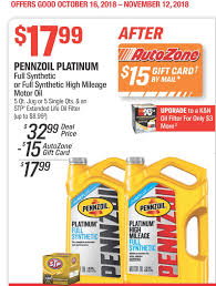 5 Qt Pennzoil Platinum Oil Or Platinum High Mileage And Stp Oil ... Autozone Sale Offers 20 Off Coupon Battery Coupons Autozone Avis Rental Car Discounts Autozone Black Friday Ads Deal Doorbusters 2018 Couponshy Coupons For O3 Restaurant San Francisco Coupon In Store Wcco Ding Out Deals More Money Instant Win Games Win Prizes Cash Prize Car Id Code 10 Retail Roundup Travel Codes Promo Deals On Couponsfavcom 70 Off Amazon Code Aug 2122 January 2019 Choices