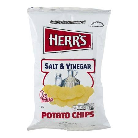 Herrs Potato Chips, Salt & Vinegar - 2.75 oz