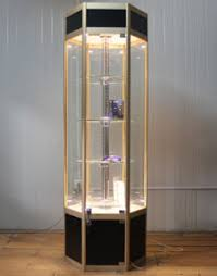 china free standing glass display cabinet with led light l china