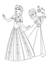Full Image For Disney Frozen Printable Colouring Pages Elsa And Anna Coloring Free