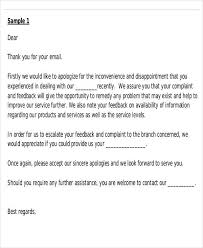 Apology letter to customer plaint